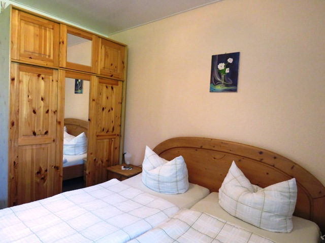 Schlafzimmer für 2 Personen im Ferienhaus